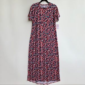 Lularoe Americana Maria Maxi Dress Size Medium